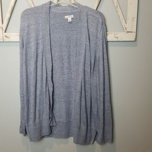 blue open front cardigan Large